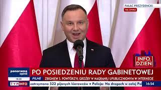 Andrzej Duda ogłasza swój blamaż i marginalizację Polski na arenie międzynarodowej.