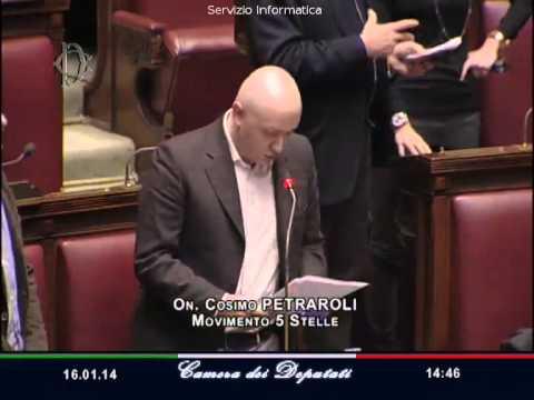 Il deputato del M5S Cosimo Petraroli ricorda alla Camera Gabriele Cipolla