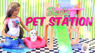 Unbox Daily: Barbie Pet Station and Puppy Play Set - Review - 4K