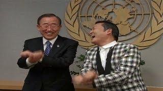 Psy teaches Ban Ki-moon