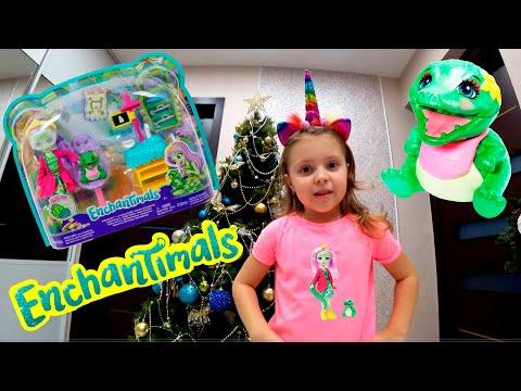 Кукла Enchantimals улыбающийся стоматолог Энди и крокодил - Аллигатор со зверюшкой Марши