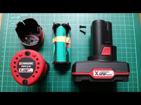 Lidl Parkside 12V Power Tool Battery Stripdown - Very Revealing