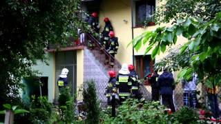 Pożar domu na Białobrzegach w Krośnie