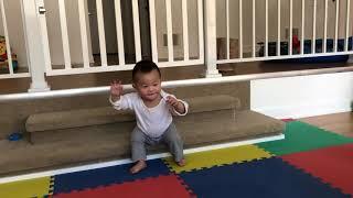 1 Year's baby just start standing.