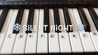 Silent Night | Easy Christmas Piano Tutorial (With Notes)