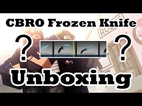 Roblox CBRO - Case Unboxing (Frozen Dream Knives) - смотреть