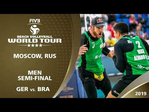 LIVE 🔴 - Men's Semi-Final 1 | 4* Moscow (RUS) - 2019 FIVB Beach Volleyball World Tour