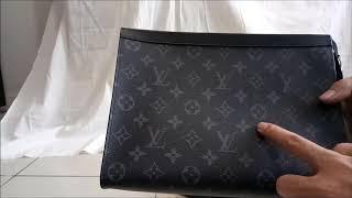 999d0bf3d6a5 Louis Vuitton Real vs Fake Pochette Voyage in Monogram Eclipse canvas