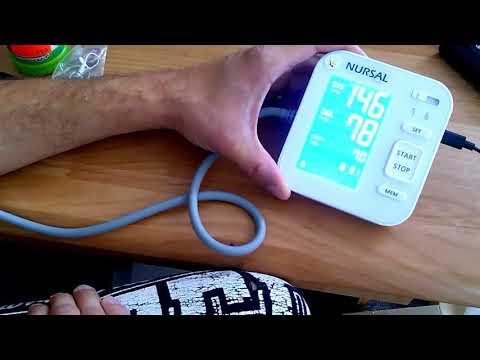 NURSAL Modernisiertes Blutdruckmessgerät für den Oberarm für 2 Nutzer (2x120 Speicherplätze)
