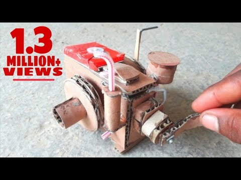 How to make a diesel engien-from cardboard