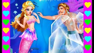 РУСАЛКА ЗАМОРОЗИЛА РУСАЛА! Ледяная принцесса подводного королевства. Мультик про русалку.