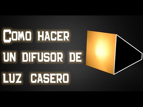 Como hacer un difusor (softbox) de luz casero