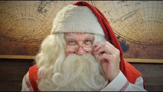 Video message from Santa Claus for kids: Father Christmas in Lapland Finland for children