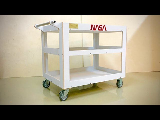 Diy utility cart the awesomer Home styles natural designer utility cart