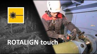 Generatoren van windturbines uitlijnen met Rotalign touch