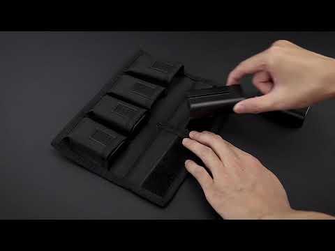 Поясной чехол для двух аккумуляторов фотокамеры и двух карт памяти