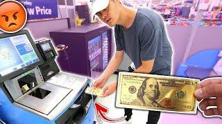 USING FAKE MONEY AT WALMART PRANK! (IT WORKED) | David Vlas