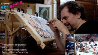 In The Studio | Stitch & Chill - Kinkade/Disney Cross Stitch Hack - As Art!