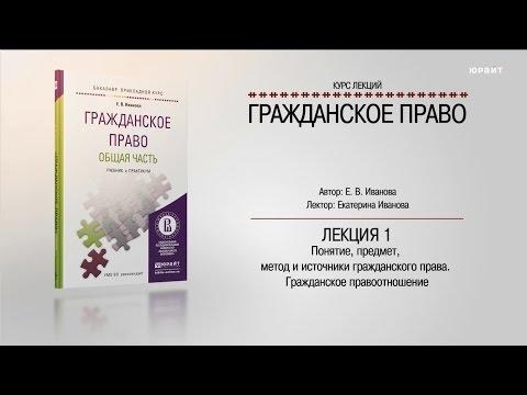 """Курс """"Гражданское право"""" Общая часть"""