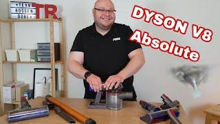 Dyson V8 Absolute im Test Review /Reinigung und Umgang des Dyson Akkusauger mit Stiel