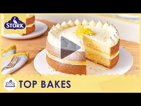 Video Zesty Lemon Celebration Cake Recipe Demonstration - Bake With Stork
