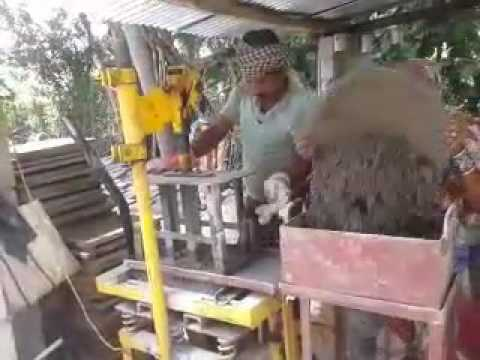 Electricity Operated Mini Cement Concrete Brick Making Machine