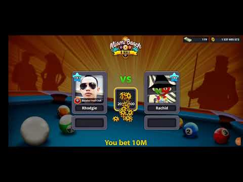 9 Ball Cue Ball Spin using Philippines Cue 001 in 8 Ball Pool by Miniclip