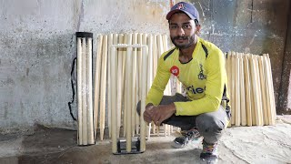 How to Make Wooden Cricket Wickets/Stumps And Bails With Amazing Skills
