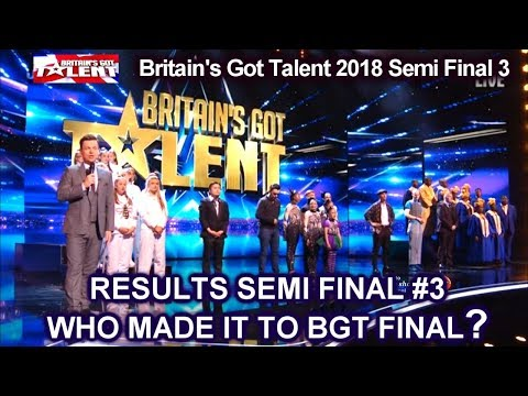 Results BGT 2018 Finalists Revealed - Britain's Got Talent 2018 Semi Final Group 3 S12E10 (видео)