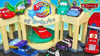 DISNEY PIXAR CARS COLOR CHANGERS RAMONE PAINT SPRAY BOOTH SALLY MATER WINGO FLORIDA 500 COLORSHIFT