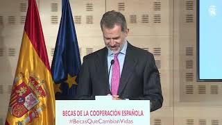 Palabras de S.M. el Rey en la presentación de Becas de la Cooperación Española. BecasQueCambianVidas