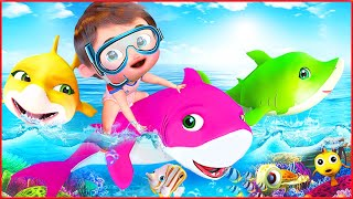 Baby Shark Song  Wheels On The Bus Song ABC   Most Viewed Video on YouTube   Banana Cartoon