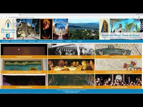 Le site web du sanctuaire de Cotignac