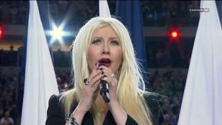 Christina Aguilera & Lea Michele - Sing Himno EUA [Superbowl XLV 2011] High Definition