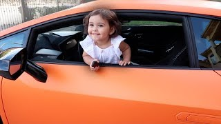 BABY DRIVES LAMBO!!! (THE FIRST BABY DRIVER)