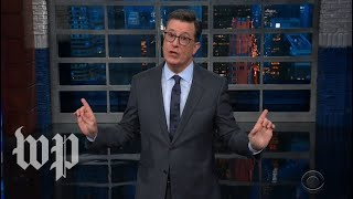 Late-night hosts tackle Trump's comments on political dirt, Sarah Sanders' departure
