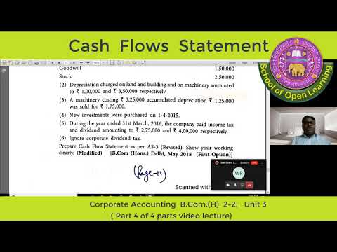 CORPORATE ACCOUNTING PART 4 By - DR. SANDEEP GOEL