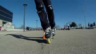 preview picture of video 'freeskate slalom huesca parte I'