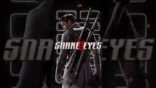 Snake Eyes - Storm Shadow Motion Poster