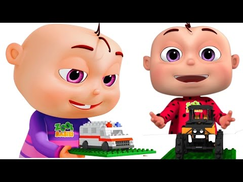 Five Little Babies Building Transport Vehicles | Learn Vehicles | Original Learning Songs