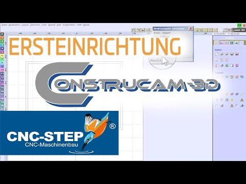 ConstruCAM-3D Software: Ersteinrichtung