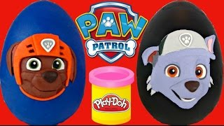 PAW PATROL Play-Doh Toy Surprise  Egg with Rocky and Zuma