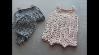 Knitting Tutorial - How To Knit The Ian Romper (Part I ) Newborn Size