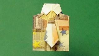 Geldschein Zum Hemd Falten