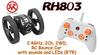 RUNHUZHINENG RH803 Bounce Car 2.4GHz, 2Ch, 2WD, RC Bounce Car with sounds and LEDs (RTR)