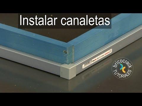Instalar canaletas rígidas y flexibles (Bricocrack)
