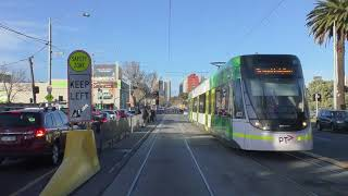 2017 Melbourne Tram Route 96 Driver View Winter AM Peak Service