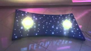 Homokóra formájú csillagos égbolt, 2 db ledes mennyezet lámpával