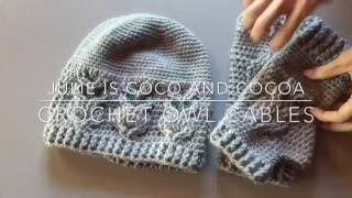 Crochet Owl Cable Stitches