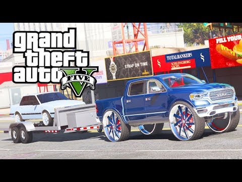 "2019 Ram On 34"" Floaters! GTA 5 Real Hood Life 3 #3 (Real Life Mod)"